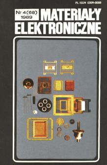 Materiały Elektroniczne 1989 nr 4(68)