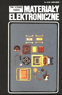 Materiały Elektroniczne 1990 nr 1(69)