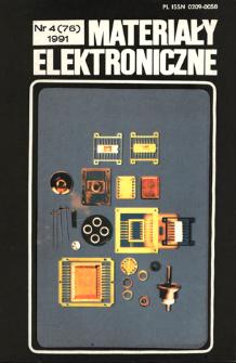 Materiały Elektroniczne 1991 nr 4(76)
