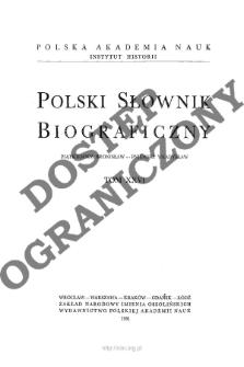 Polski słownik biograficzny T. 26 (1981), Piątkiewicz Bronisław Stanisław - Pniewski Władysław