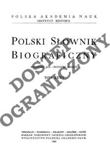 Polski słownik biograficzny T. 27 (1983), Pniowski Jan - Potocki Ignacy