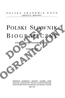 Polski słownik biograficzny T. 28 (1984-1985), Potocki Ignacy Roman - Przerębski Mikołaj