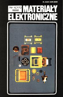 Materiały Elektroniczne 1992 nr 1(77)