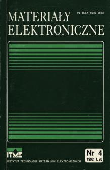 Materiały Elektroniczne 1992 T.20 nr 4