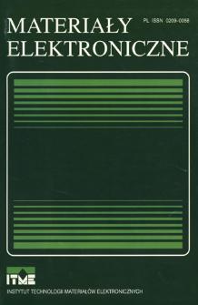 Materiały Elektroniczne 1993 = Electronic Materials 1993