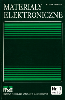 Materiały Elektroniczne 1993 T.21 nr 1