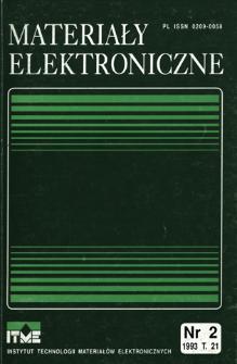 Materiały Elektroniczne 1993 T.21 nr 2