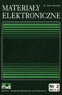 Materiały Elektroniczne 1994 T.22 nr 2