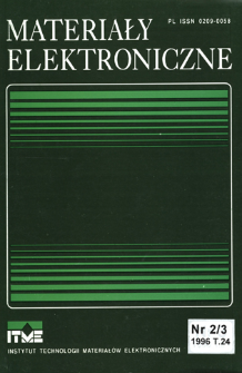 Materiały Elektroniczne 1996 T.24 nr 2/3