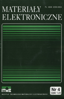 Materiały Elektroniczne 1996 T.24 nr 4