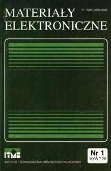 Materiały Elektroniczne 1998 T.26 nr 1