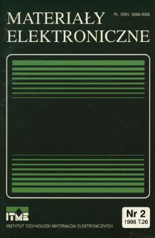 Materiały Elektroniczne 1998 T.26 nr 2