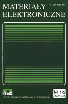 Materiały Elektroniczne 2000 T.28 nr 1/2
