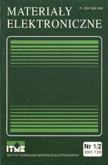 Materiały Elektroniczne 2001 T.29 nr 1/2