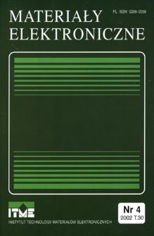 Materiały Elektroniczne 2002 T.30 nr 4