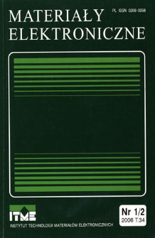 Materiały Elektroniczne 2006 T.34 nr 1/2