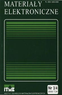 Materiały Elektroniczne 2006 T.34 nr 3/4