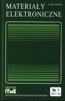 Materiały Elektroniczne 2007 T.35 nr 1