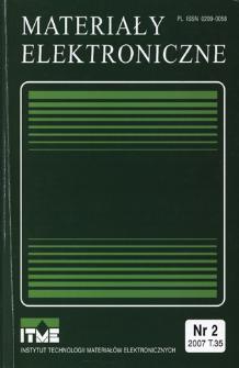 Materiały Elektroniczne 2007 T.35 nr 2