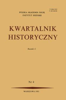 Kwartalnik Historyczny R.100 nr 4 (1993)