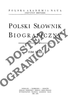 Polski słownik biograficzny T. 32 (1989-1991), Romiszewski Aleksander - Rudowski Jan
