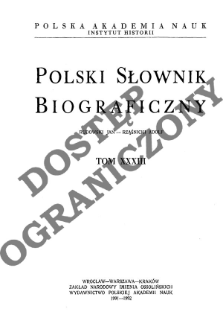 Polski słownik biograficzny T. 33 (1991-1992), Rudowski Jan - Rząśnicki Adolf
