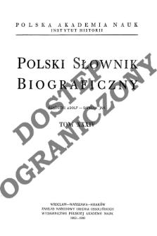 Polski słownik biograficzny T. 34 (1992-1993), Rząśnicki Adolf - Sapieha Jan