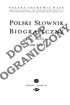 Polski słownik biograficzny T. 35 (1994), Sapieha Jan - Schroeder Eliasz