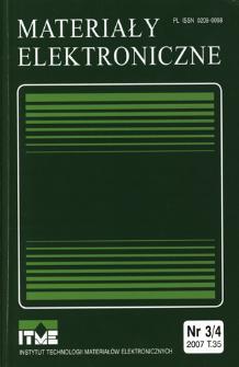 Materiały Elektroniczne 2007 T.35 nr 3/4