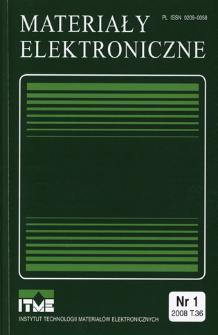Materiały Elektroniczne 2008 T.36 nr 1