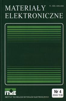 Materiały Elektroniczne 2008 T.36 nr 4