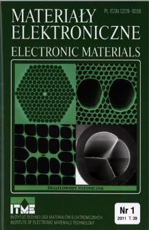 Materiały Elektroniczne 2011 T.39 nr 1