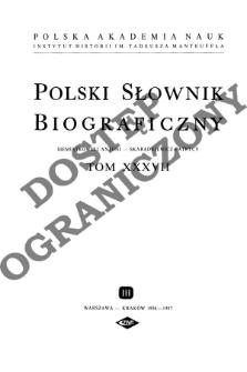 Polski słownik biograficzny T. 37 (1996-1997), Siemiątkowski Antoni - Skaradkiewicz Patrycy