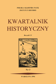 Kwartalnik Historyczny R. 101 nr 3 (1994)