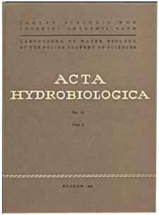 Acta Hydrobiologica Vol. 10 Fasc. 3 (1968)