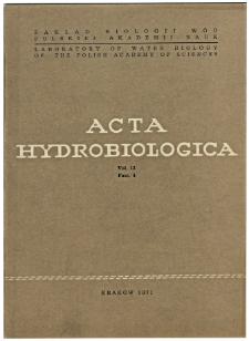 Acta Hydrobiologica Vol. 13 Fasc. 4 (1971)