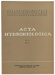 Acta Hydrobiologica Vol. 15 Fasc. 3 (1973)