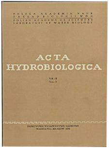 Acta Hydrobiologica Vol. 18 Fasc. 3 (1976)