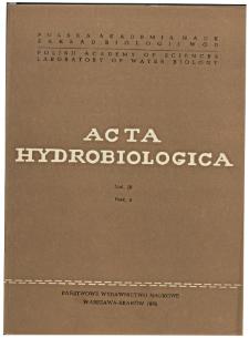 Acta Hydrobiologica Vol. 18 Fasc. 4 (1976)