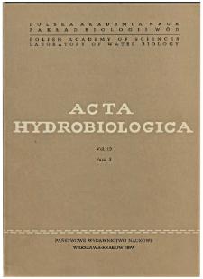 Acta Hydrobiologica Vol. 19 Fasc. 3 (1977)