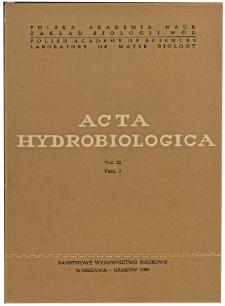 Acta Hydrobiologica Vol. 22 Fasc. 3 (1980)