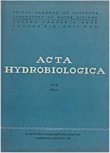 Acta Hydrobiologica Vol. 23 Fasc. 4 (1981)