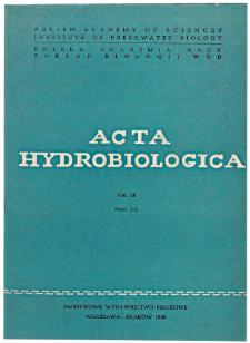 Acta Hydrobiologica Vol. 28 Fasc. 1/2 (1986)