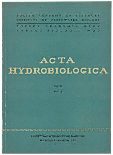 Acta Hydrobiologica Vol. 29 Fasc. 1 (1987)