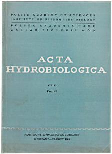 Acta Hydrobiologica Vol. 30 Fasc. 1/2 (1988)