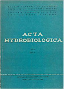 Acta Hydrobiologica Vol. 27 Fasc. 4 (1985)
