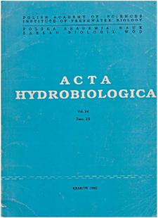 Acta Hydrobiologica Vol. 34 Fasc. 1/2 (1992)