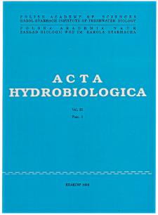 Acta Hydrobiologica Vol. 35 Fasc. 3 (1993)