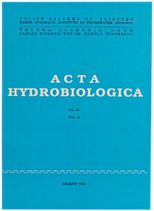Acta Hydrobiologica Vol. 35 Fasc. 4 (1993)