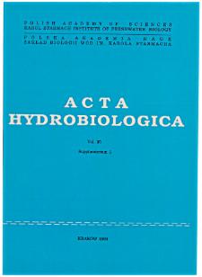 Acta Hydrobiologica Vol. 35 (1993) Suppl. 1